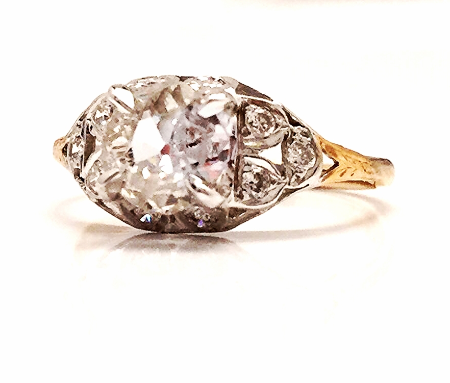 Special ladies get specially re-worked vintage pieces, compiled of Old European Cut diamonds, platinum, and 18K yellow gold. Combining time periods to get the perfect fit.
