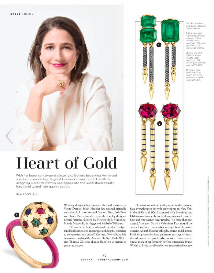 Sarah Hendler in Gotham Magazine