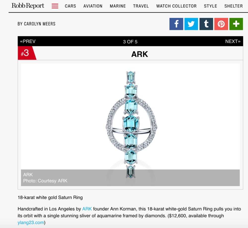 ARK on Robb Report