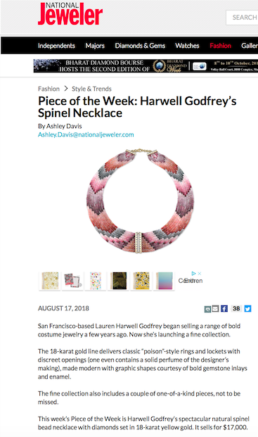Harwell Godfrey on National Jeweler