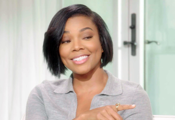 Gabrielle Union in Sarah Hendler studs on Oprah