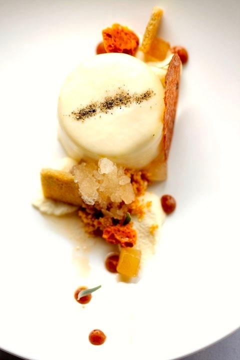 bleu cheese cheesecake, white port