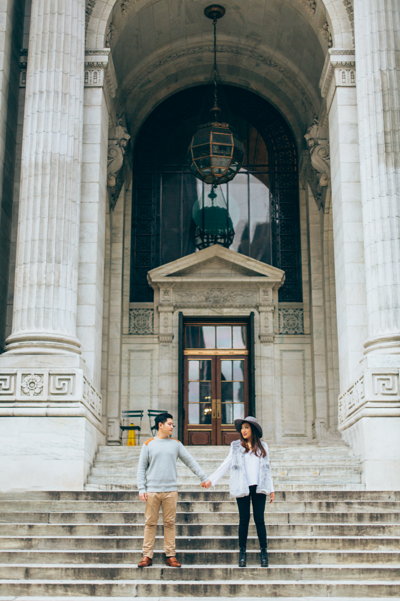 Brooklyn NYC Wedding Photographer Boris Zaretsky Bryant Park Dumbo Engagement-39.jpg