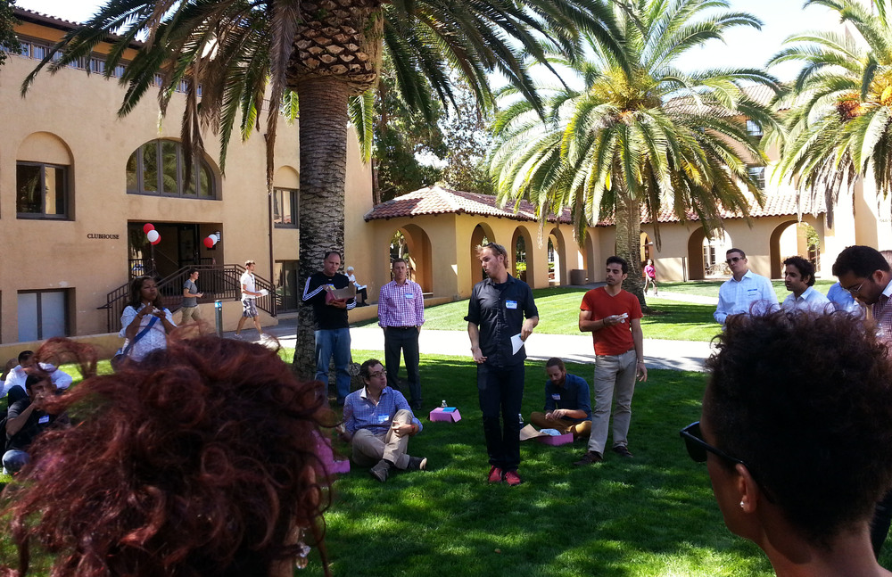 Knight, d.school, Biodesig and CERC fellows gather for a daylong bootcamp at Stanford University. (Emi Kolawole)