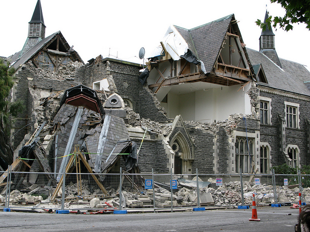 A 2011 earthquake in Christchurch killed 185 people in New Zealand's second-largest city. Photo by Sharon Davis via Flickr