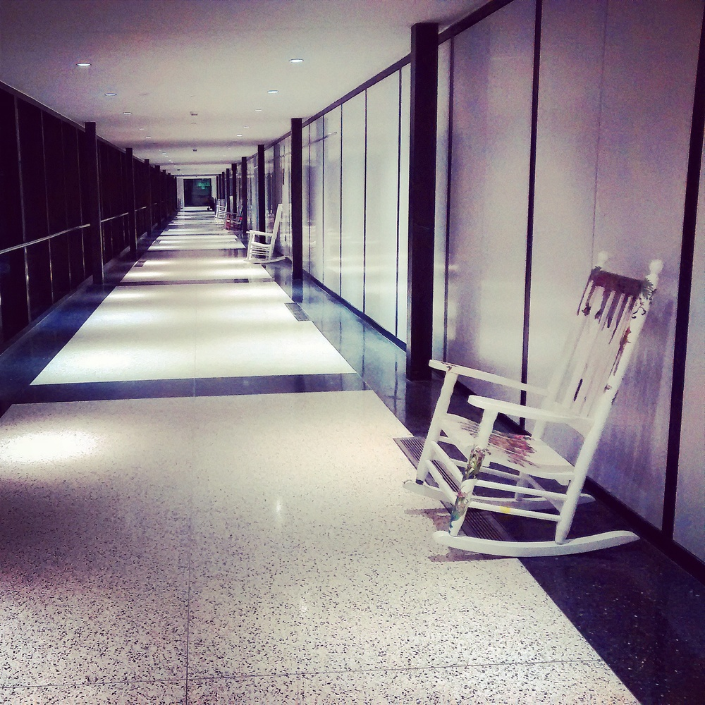 One of the hallways at Logan International Airport in the wee hours of the morning. (Emi Kolawole)