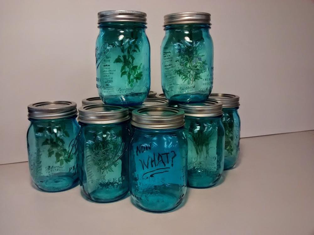 The seeds, the mason jars, the not-quite-legend. (Emi Kolawole)