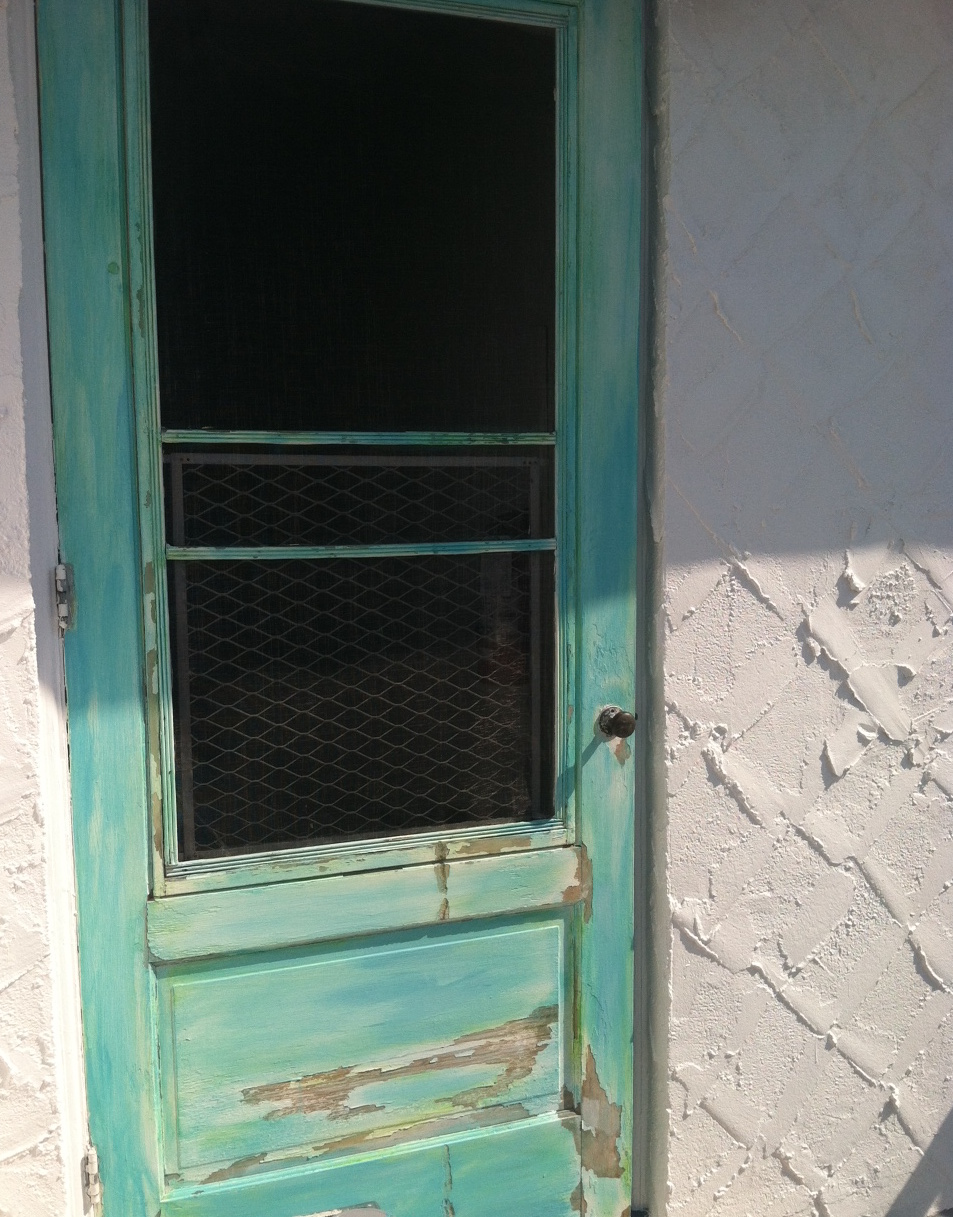 There is just something about an old screen door