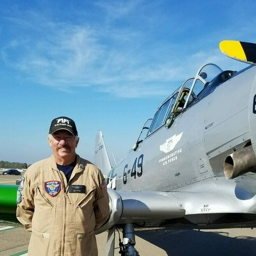 """A native San Diegan returning to aviation after a long hiatus and joining AG1 in early 2014, he is involved in most of the Wing's event planning and has served as Safety Officer.  He is also a member of the B-29/B-24 Squadron and tours the country on FIFI, CAF's B-29 Superfortress.  """"Coming from a general aviation background"""" he says, """"it is absolutely a dream come true to be involved in preserving aviation history in these WII aircraft.""""  I am honored to be working around our professional staff and great volunteers to advance Air Group One and our mission to restore and keep our WWII aviation heritage alive and our aircraft flying safe."""
