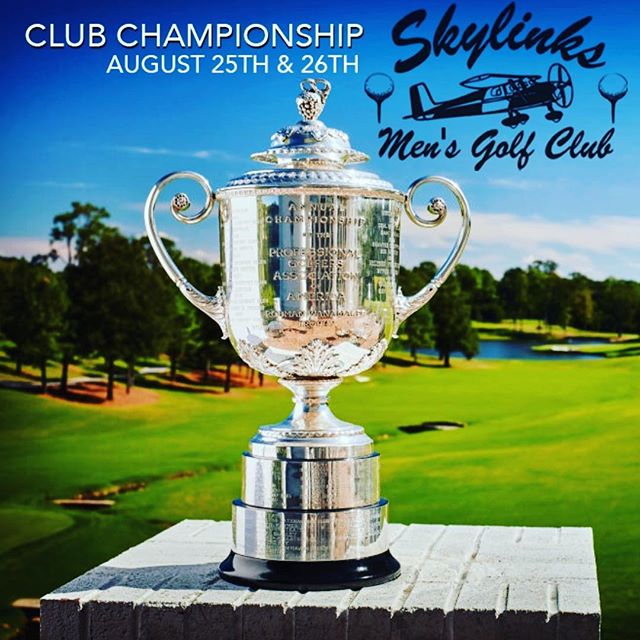Club Championship - 2 Rounds  Saturday & Sunday August 25th-26th, 2018  Individual Stroke Play - Gross and Net Payouts Must play both rounds Must have played in 3 tournaments to play  Sign-up deadline is midnight Wednesday August 15th #skylinksgolfcourse #skylinksmensclub #longbeach #golf #longbeachgolf #mensgolf #clubchampionship