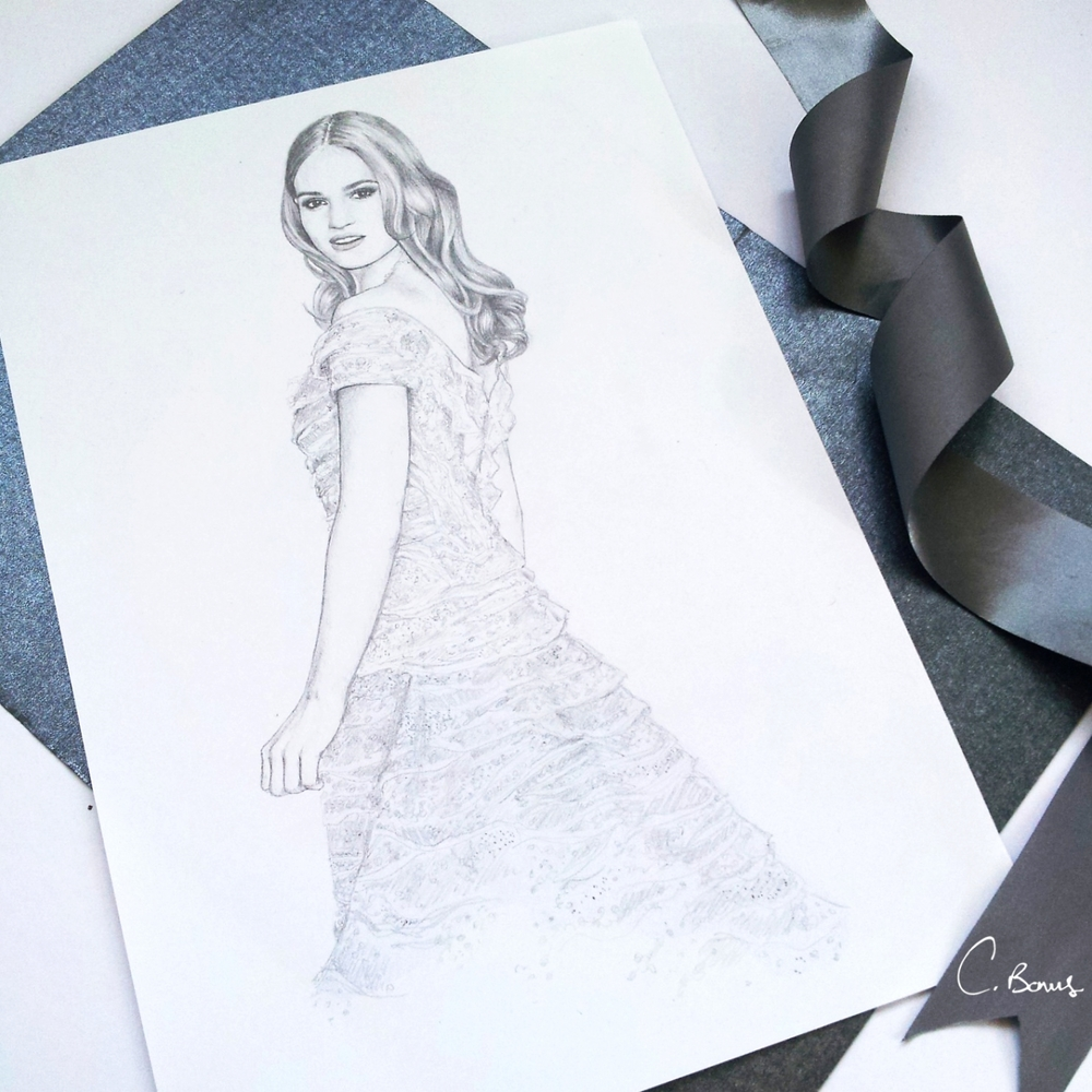 Lily James sketch
