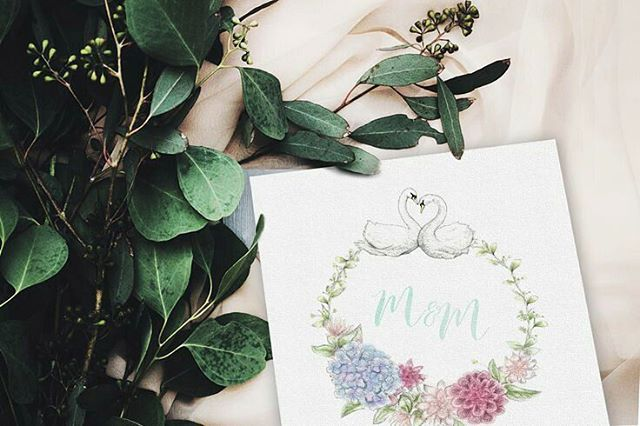 When there is no sunlight to take photos of your work... #Photoshop 🙈⛅ photo via #unsplash 🙋  #weddinginvitations #illustration #weddinginspiration #art #instaart #swanillustration #flowerwreath