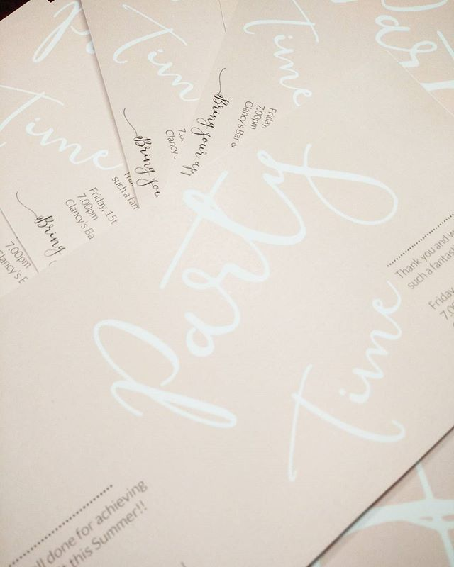 More invitations! 💌 #partytime #pink #graphicdesign #invitations