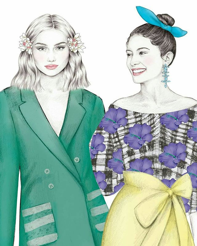 Details for @dundrumtc #DTCLadiesDay2018 #DundrumShowcase 👗👜 #illustration #fashionillustration #pencilsketch #fashionart #irishfashion