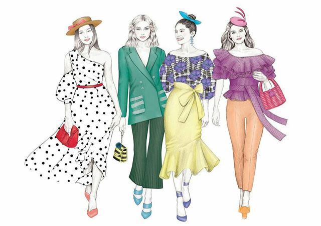 #DTCLadiesDay2018 ! So nice to see all of the stories from today's Ladies Day @dublinhorseshow with @dundrumtc 💛 illustrations everywhere! More in my story 😊 #illustration #fashionillustration #ladiesday2018 #ladiesday #ladiesdayfashion #racesfashion #dublinhorseshow #irishfashion