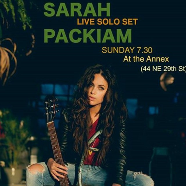 #TONIGHT 7.30pm #SUNDAY SUNDOWNER SESSIONS features #SARAH PACKIAM .... Chill way to wind down the #weekend with a bottle of #rose and laid back #livemusic #livemusicmiami #theannex #theannexwynwood #Wynwood #midtownmiami #savorsummer