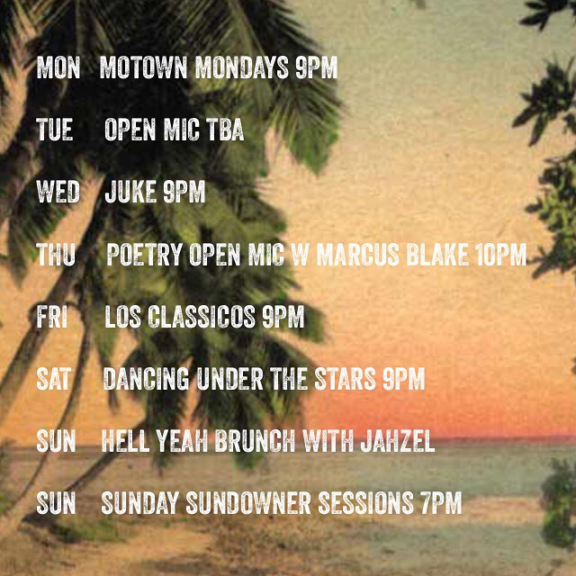 A look at the week ahead #motown #openmic#jpb#rock#blues#soul#poetry#whiterabbitsociety#colombian #bands#colombia#dj#beats#brunch#sundowner#livemusic #livemusicmiami #theannex #theannexwynwood #savorsummer