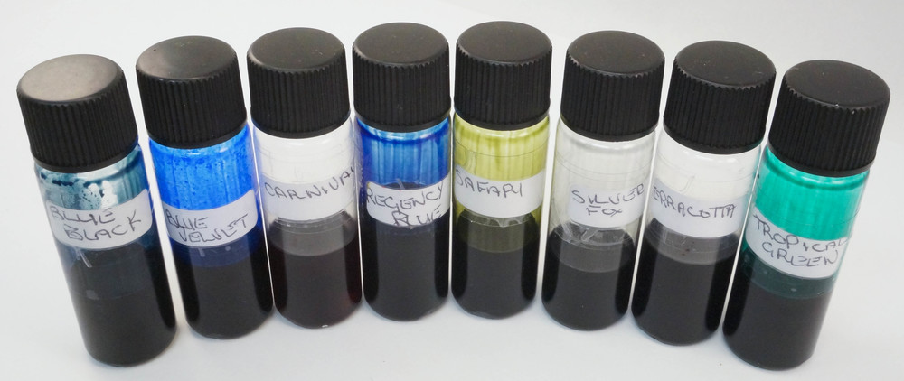 Ink samples provided by Diamine Ink