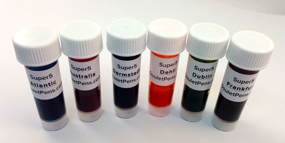 Sample vials provided by Goulet Pens.
