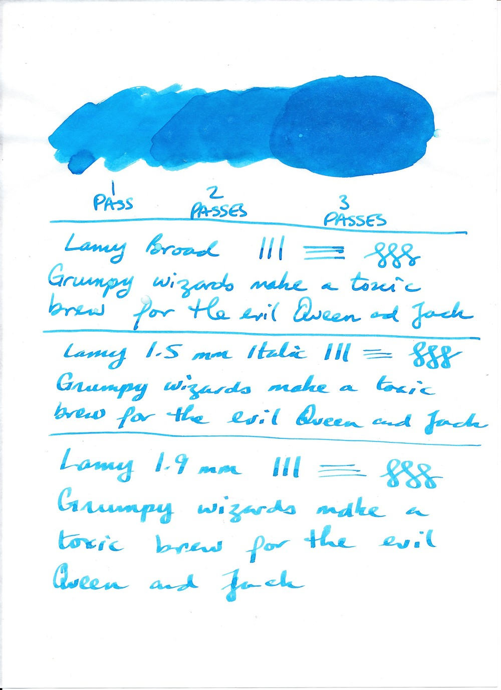 Writing Sample on Tomoe River 52 gsm