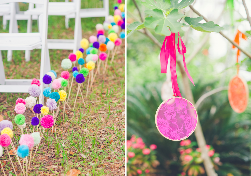 Colourful outdoor same-sex wedding  |  www.justloveweddings.ca