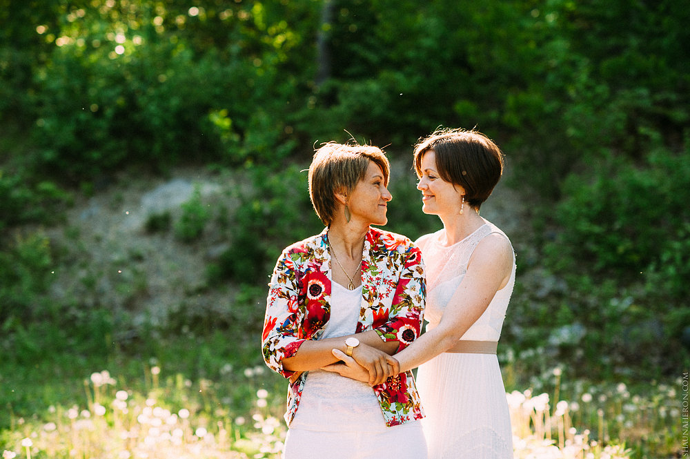 Heather + Diana's cottage same-sex day after shoot  |  www.justloveweddings.ca