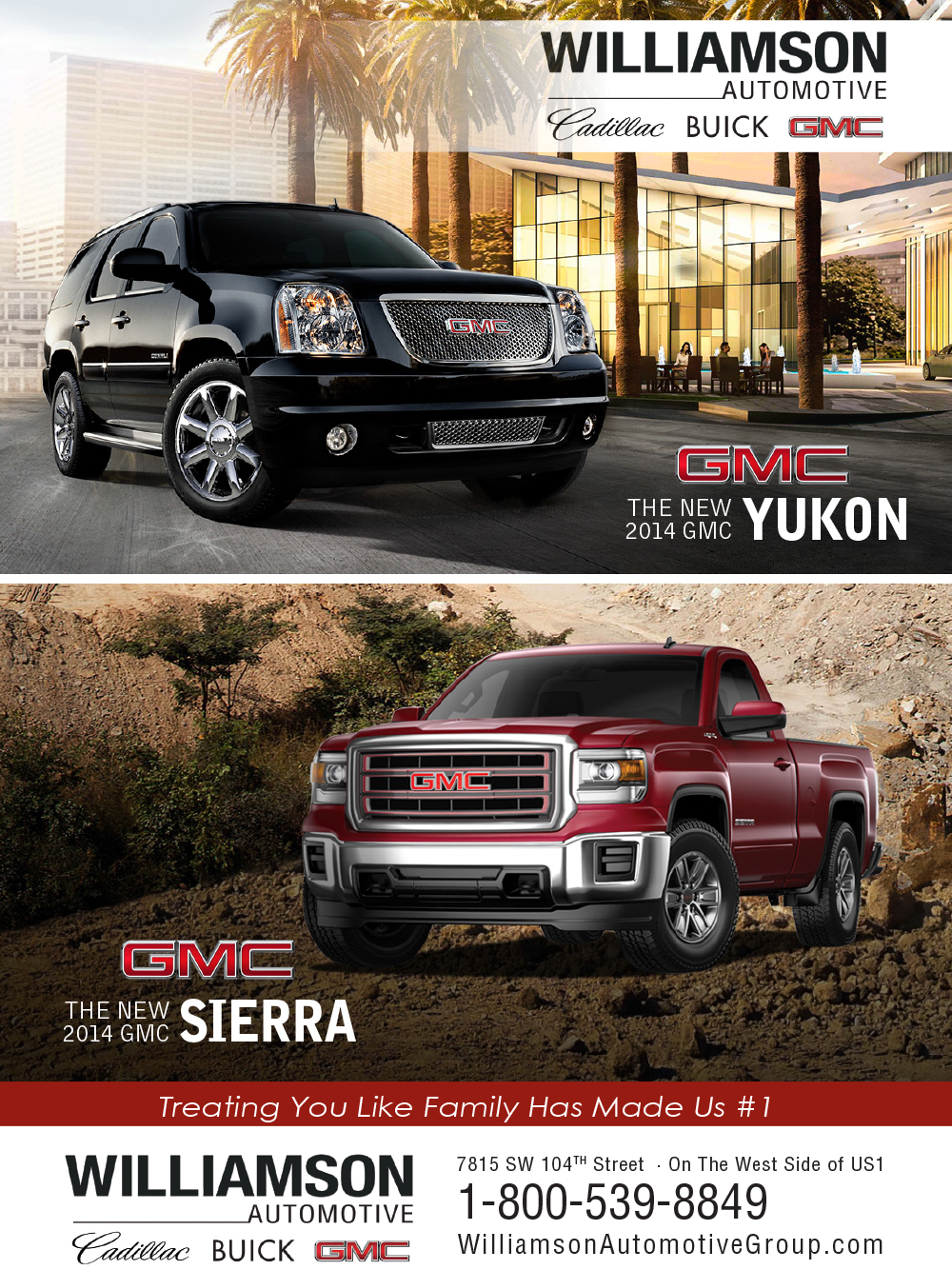 Williamson-Automotive-2014-GMC-Yukon-2014-GMC-Sierra-Print-Ad