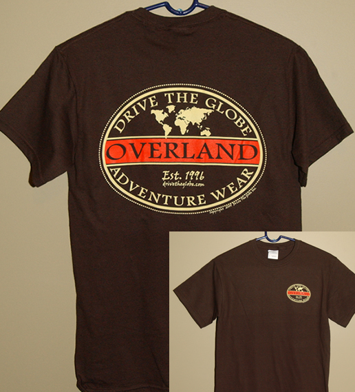 drive the globe overland adventure wear t shirt drive. Black Bedroom Furniture Sets. Home Design Ideas