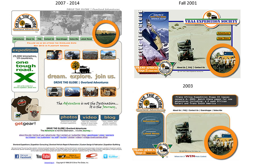 A screen capture of our old website.