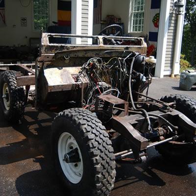2006:Trans-Africa Vehicle Rebuild - Vintage Rovers Across Africa truck rebuild & restoration