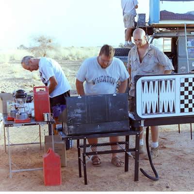 Outside of Timbuktu Mali - The Drive The Globe crew make camp