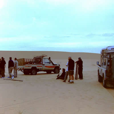 Crossing the Sahara - Hot, sandy & a very slow road