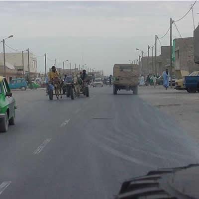 February 18, 2001 Nouadhibou - Nouadhibou, Mauritania. An outlaw post