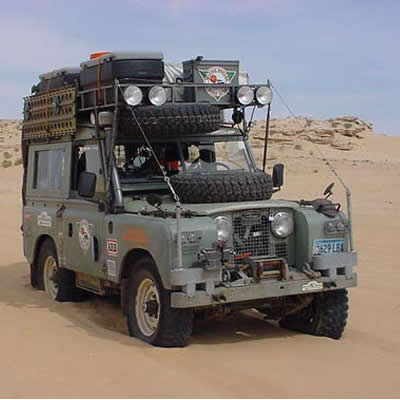 February 16, 2001 Convoy - Military Convoy through a mine field in Western Sahara