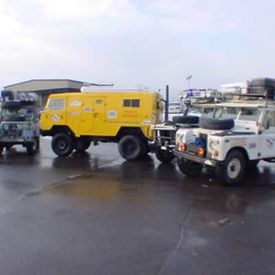December 22, 2000- Windsor Locks - Windsor Locks CT USA, Preparing to ship the trucks & the expedition team