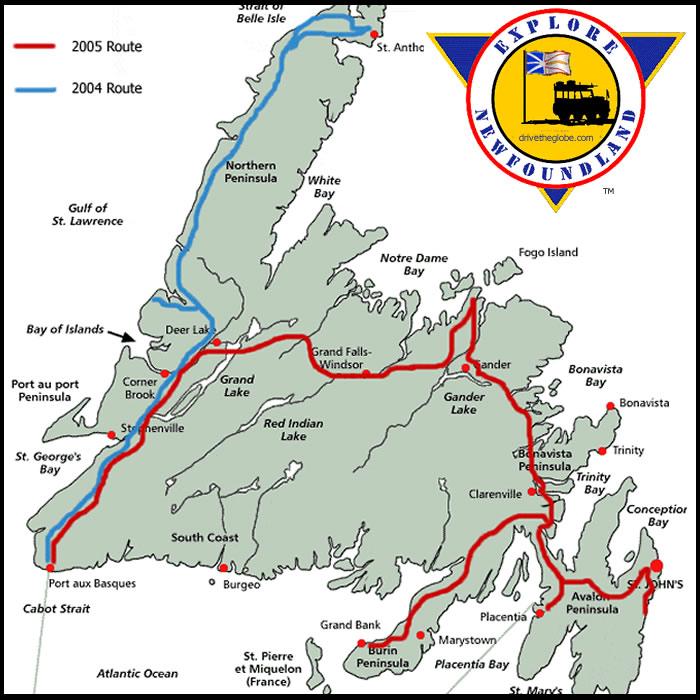 2004: Explore Newfoundland - 2004 & 2005 exploration of Eastern & Western Newfoundland