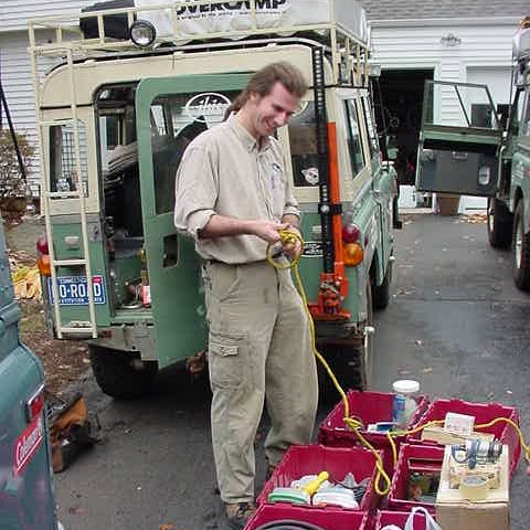 2000: Preparing The Africa Trucks - November 2000 preparation of Vintage Rovers Across Africa Vehicles