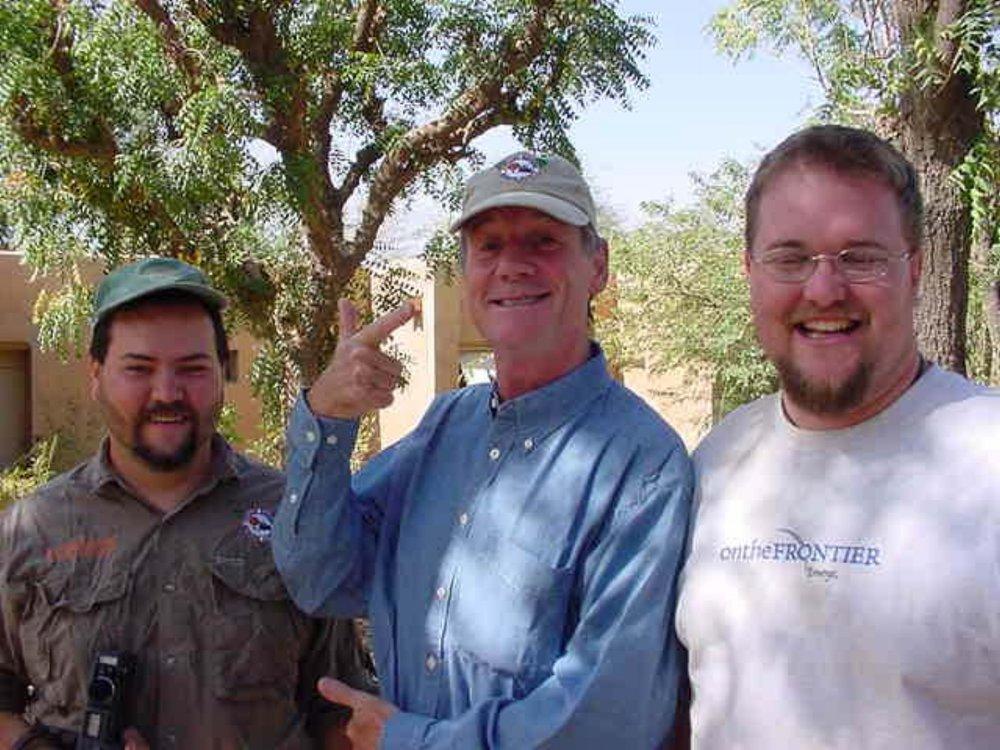 Ed Messenger, Michael Palin & Paul Shumway