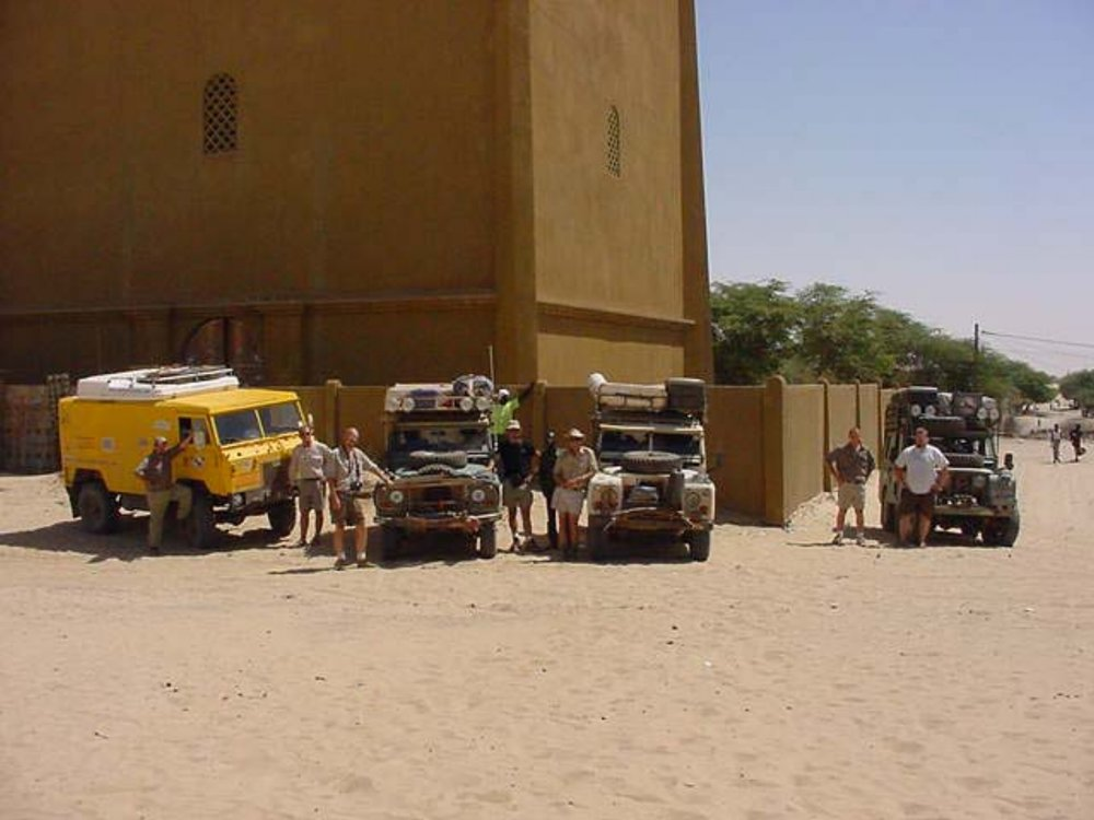 Our Expedition Trucks in Timbuktu Mali
