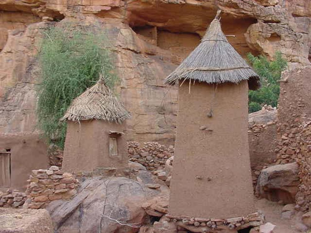 Mud & straw construction in a Dogon home