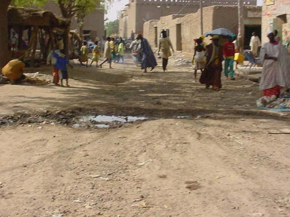 The sand streets of Djenne Mali