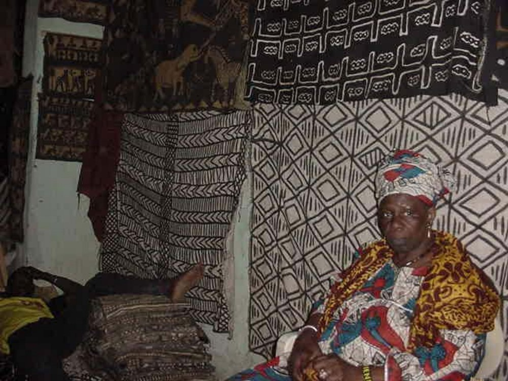 Intricate tapestries are made by the women of Djenne
