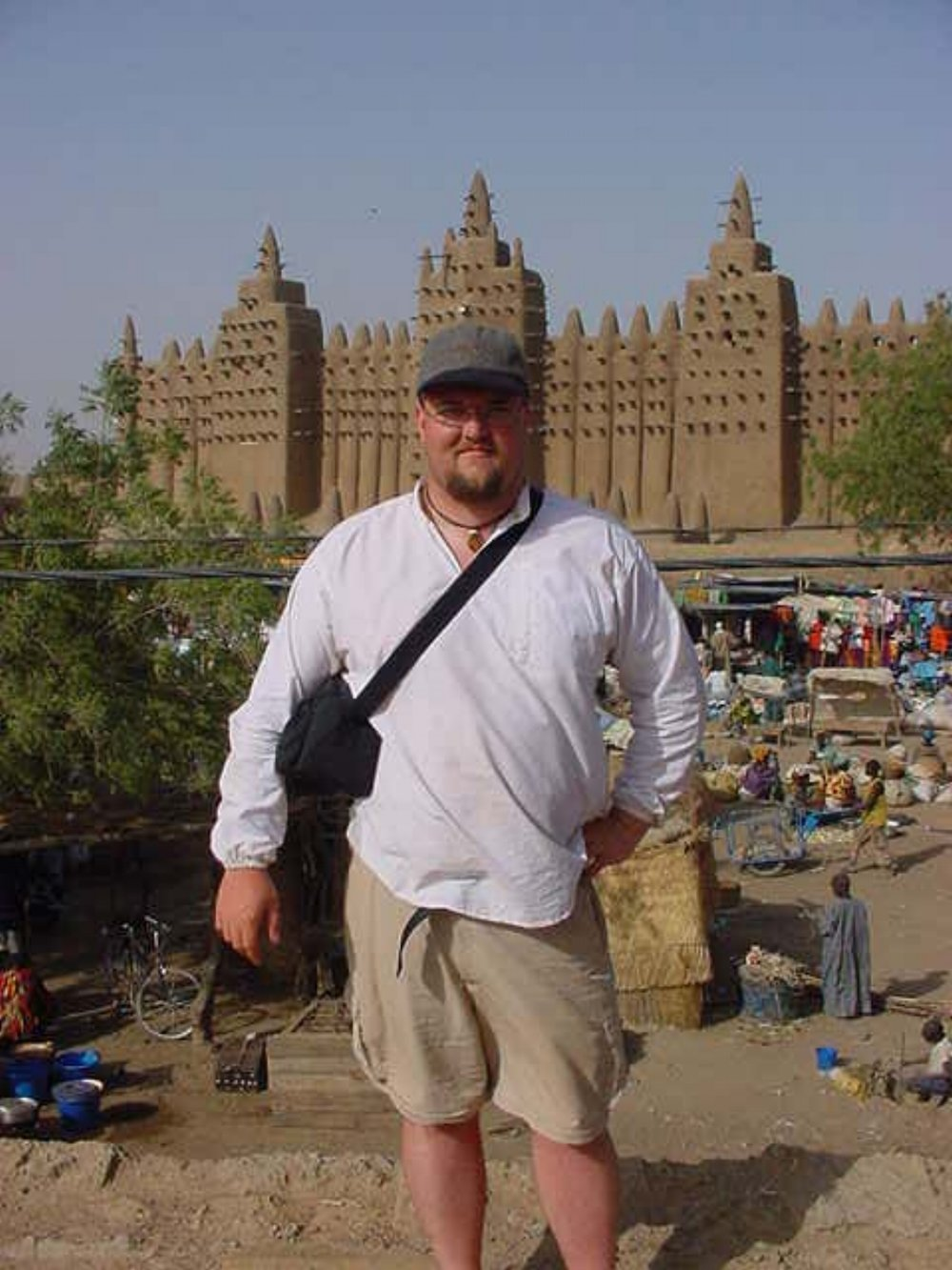 Paul Shumway at the Grand Mosque of Djenne