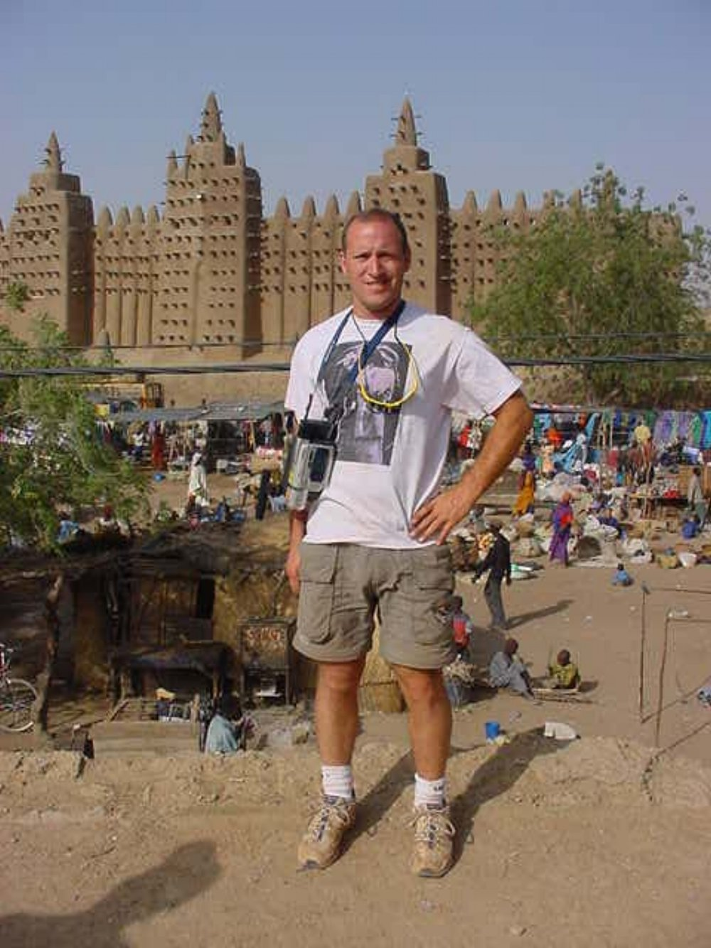Michael Ladden at the Grand Mosque of Djenne Mali