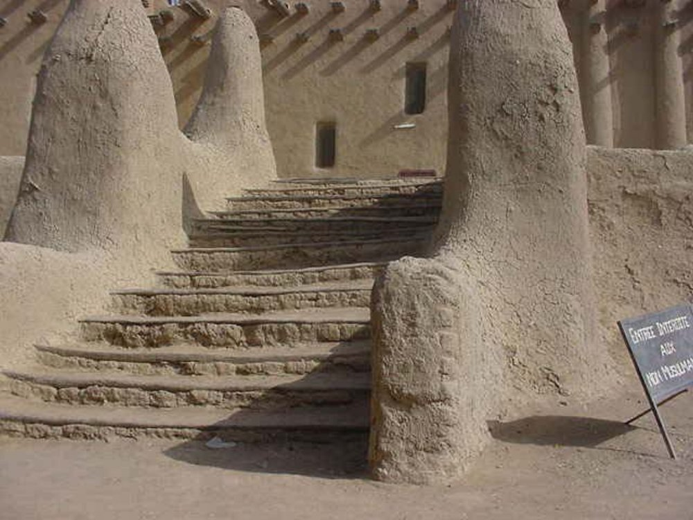 Steps to the Grand Mosque