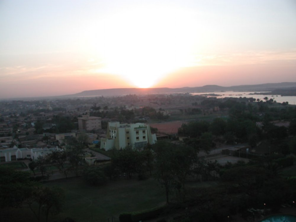 The view from our hotel over Bamako Mali