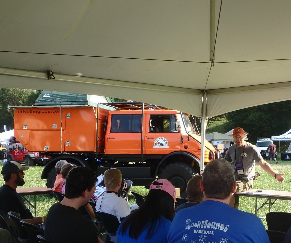 Michael Ladden teaches a class at Overland Expo in Asheville NC.