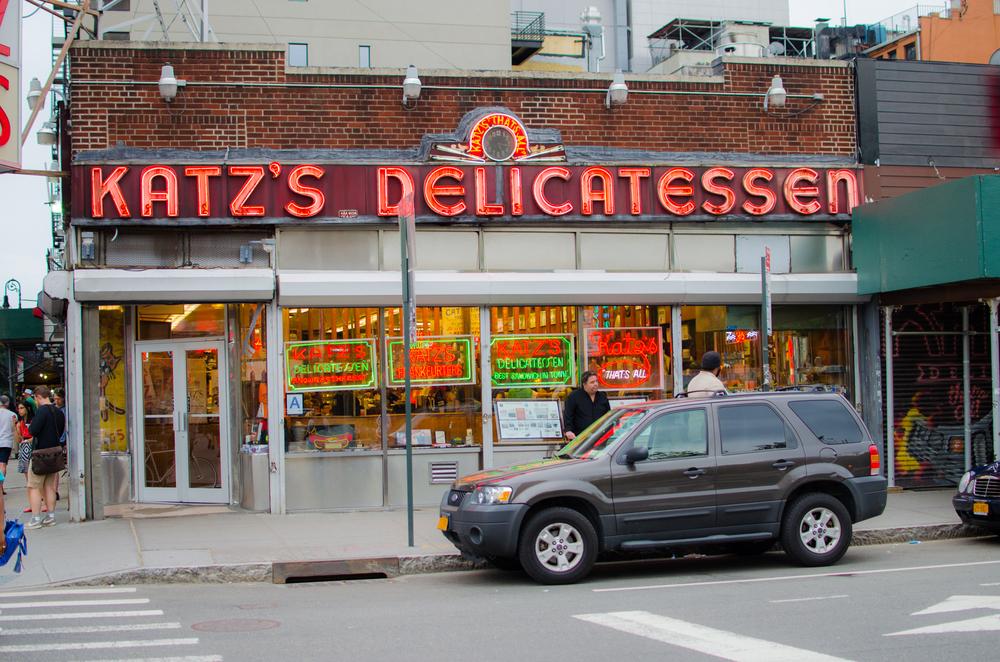 On the corner of Houston & Ludlow sits the iconic neon of Katz Deli