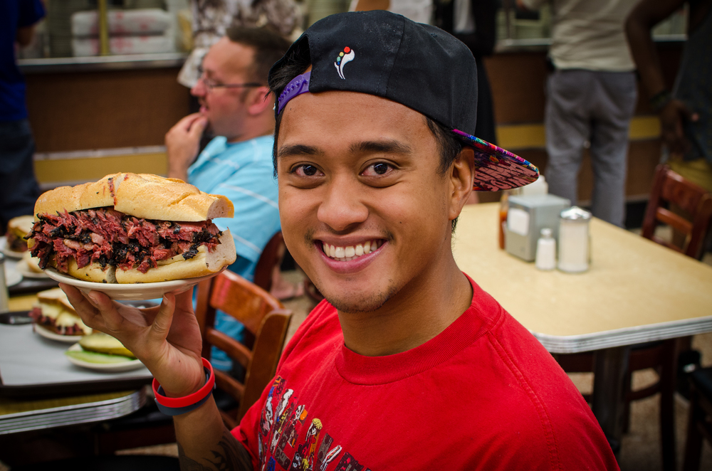 That sandwich and my head for comparison purposes