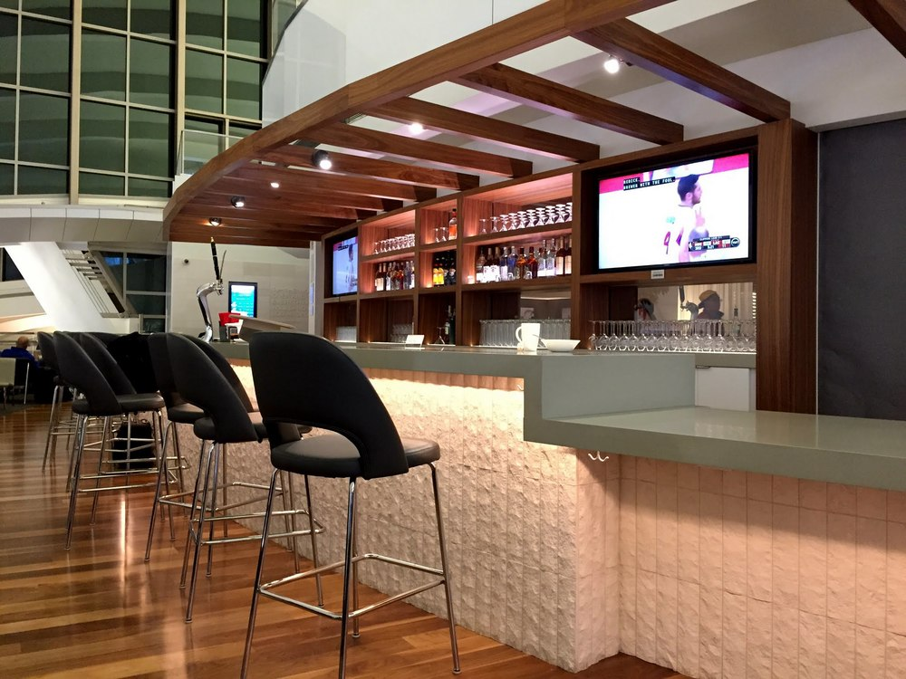 Bar in balcony area